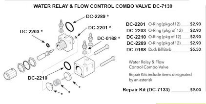 Universal Water Relay Valve With Flow Control Non