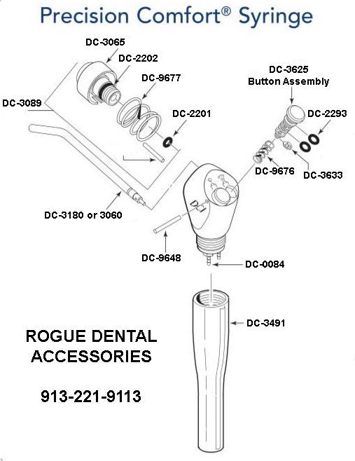 Dci Quot Precision Comfort Quot 174 Air Water Syringe Rogue Dental